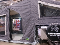 The Camper Tent on the SuperMax On Road Camper Trailer