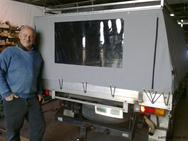 canvas-canopy-rear-clear-pvc-window & Vehicle Canopies | Sar Major Canvas Goods and Trailers