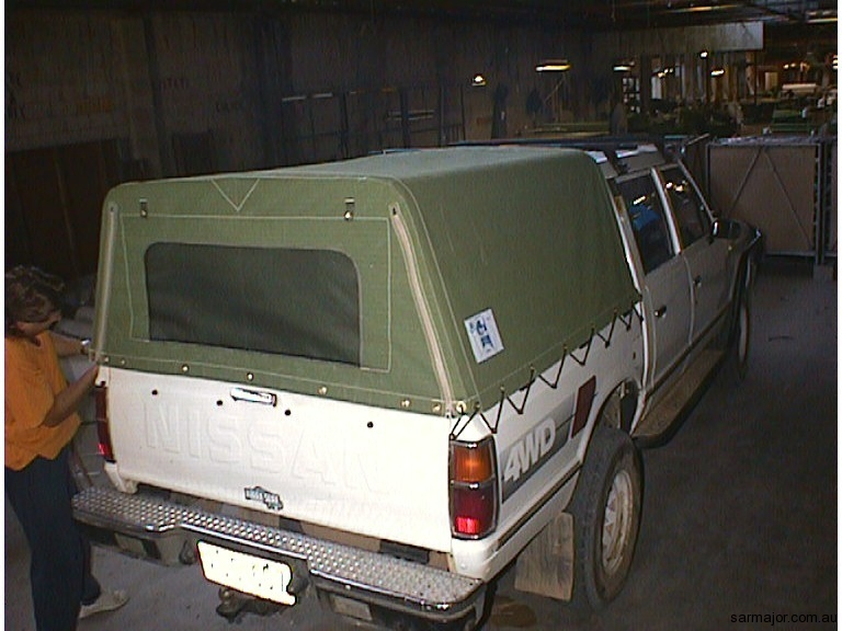 canvas-ute-canopy-with-rear-window & Vehicle Canopies | Sar Major Canvas Goods and Trailers